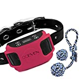OCEVEN Wireless Dog Fence System with GPS, Outdoor Pet Containment System Rechargeable Waterproof Collar EF851S, Red, for 15lbs-120lbs Dogs with 2pcs Toys for Free