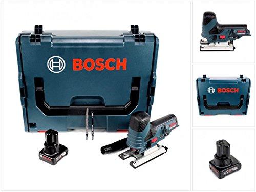 Bosch GST 12V-70 - Sierra de calar con batería (12 V, en L-Boxx + 1 batería de 6,0 Ah, sin cargador)