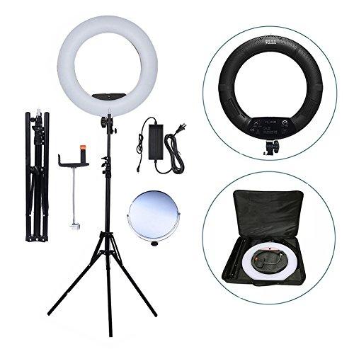 Yidoblo FS-480II 5500K bio-kleurencamera foto / studio / telefoon / video 18 '' 480 LED ringlicht LED-lamp met 2M statief + softbag kit