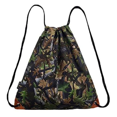 Black Temptation Waterproof Japanese Style Shoulder Bag Outdoor Sac à Dos Sac à Cordonnet
