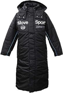 デサント コート ジュニア DESCENTE MOVE SPORT フード付き 中綿入り ロング ベンチコート 保温 暖か