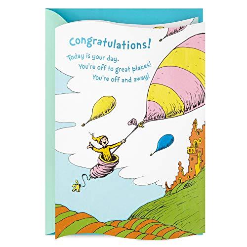 Hallmark Dr. Seuss Graduation Card (You're Off and Away)