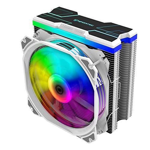 Nfortec Centaurus X - Disipador por Aire para CPU con Iluminación A-RGB y hasta 180W de TDP máxima - Color Blanco