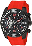 Invicta Men's Pro Diver Stainless Steel Quartz Watch with Silicone Strap, red, 25 (Model: 22810)