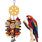 Feli546Bruce Accessoires pour Oiseaux, Blocs de Bois à mâcher en rotin pour Animal...