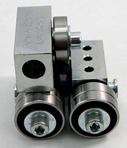 Ersatzteil Set/Baugruppe für Bandsägemaschinen, Universalführung mittel 5 x 5 x 5 cm, vormontiert zerlegbar hochwertig, für viele Modelle passend universell anbaubar durch 2 Montagemöglichkeiten