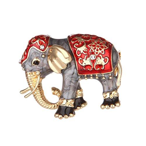 bestoyard Brosche Elefant Vintage Emaille-Legierung Dekorationen Kleidung REGLO ideal für Tag der Mutter für Frauen Mädchen