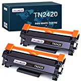 OfficeWorld Compatible Brother TN2420 TN-2420 TN2410 TN-2410 Cartuchos de Toner para Brother HL-L2310D L2350DN L2370DN L2375DW L2710DN L2710DW MFC-L2730DW L2750DW DCP-L2510D L2530DW L2550DN (2 Negro)