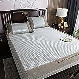 Juego de edredón doble doble cama colcha en la parte superior de la cama cama cama elástica sábana bajera de tres piezas...