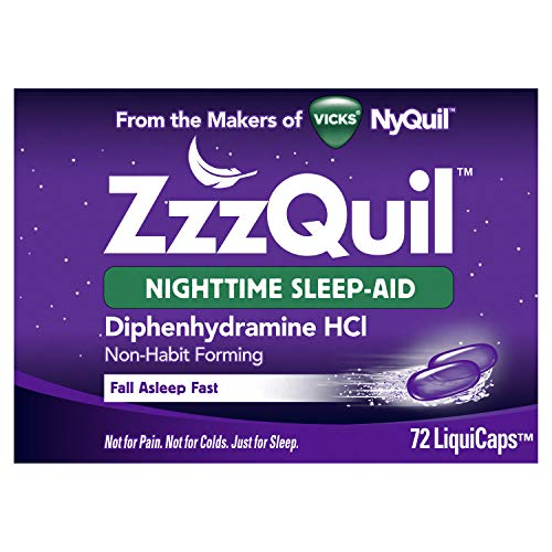 ZzzQuil Nighttime Sleep Aid, Non-Habit Forming,...