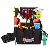 Winjun 1 Stück Schwarz Professionelle Wasserdicht Werkzeugtasche Gürteltasche Werkzeugbeutel mit Gürtel für Elektriker