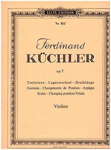 Tonleitern Lagenwechsel Dreiklaenge (Violine)