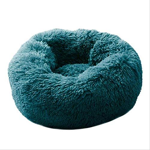WUBS Pet bedSuper zacht hondenbed wasbaar pluche kennel kennel diep slapen hond huis bank hond mand huisdier bed M 60 cm donkergroen