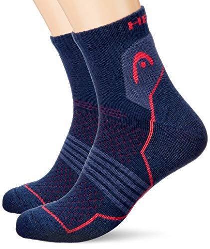 HEAD unisex-adult Quarter (2 pack) Hiking Socks, pink/blue, 39/42 (2er Pack)