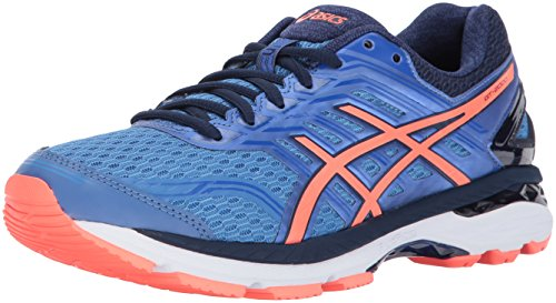 ASICS Women's GT-2000 5 Running Shoe, Regatta Blue/Flash Coral/Indigo Blue, 6 Medium US