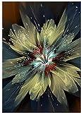 AS65ST12 Arte Pósteres Keldog impresiones enmarcadas colorido abstracto de la flor de la pintura sobre lienzo arte de la pared impresiones del cartel de madera 50x70cm Pintura-bastidor interior Poster