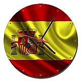 MasTazas Bandera De España Spain Flag Reloj de Pared Wall Clock 20cm