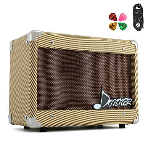 Donner 15W Acoustic Guitar AMP Kit DGA-1 Guitar Amplifier with 10 Feet Guitar Cable