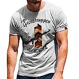 Grenztruppen DDR NVA GR-6 Grenzregiment Hans Kollwitz Honecker T-Shirt #31388, Größe:3XL, Farbe:Weiß
