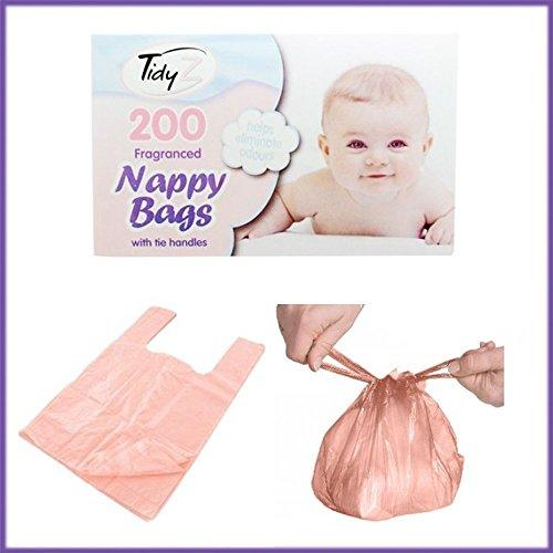 Tidyz - Bolsas de pañales con fragancia – 4 paquetes de 200 unidades (800 en total)