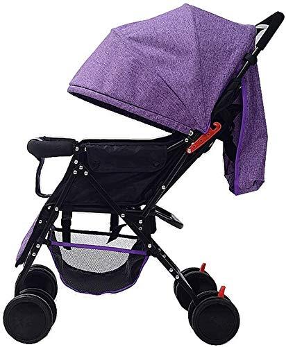 OESFL Cochecito ligero, el cochecito de bebé del cochecito de niño del carro, se puede hacer que se acuesta, se puede plegar fácil de almacenar la carretilla, compacto convertible cochecito