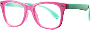 COASION Kids Clear Glasses for Little Girls Boys, Geek Nerd Eyeglasses for Costume (Age 4-12)