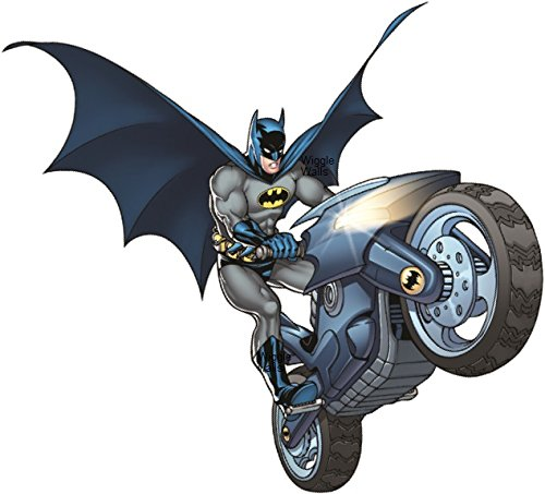 8 Inch Batbike Batman Motorcycle Bat Bike Man Dark Knight DC Comics Justice League Beyond Begins Forever Origins Returns Removable Wall Decal Sticker Art Home Decor -6 Inch x 8 inch