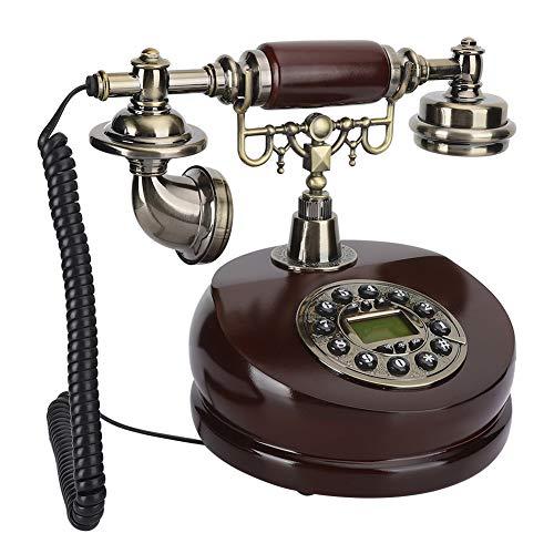 Vbestlife Teléfono Retro Antiguo, Resina Teléfonos Vintage de Doble propósito Teléfonos fijos Teléfono Artesanal Decoración Dial Teléfono
