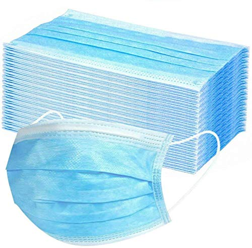 100 Stück Einweg-Gesichtsschutzverdickung Nicht Gewebt, blau