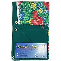 Cortina Sol de Exterior jardín Impreso Fondo Verde confezionata–cm. 150x 250