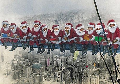 Lote de 5 tarjetas de felicitación de Navidad con sobres, con diseño original y divertido