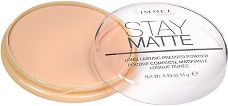 Rimmel London Stay Matte Long Lasting Pressed Powder, Silky Beige 0.49 oz (Pack of 3)