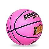 LDLXDR Balones de Baloncesto- Baloncesto de Alta Resistencia tamaño 7, Superficie Antideslizante, Caucho ecológico para Entrenamiento en Interiores y Exteriores,Purple