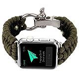 BUY-TO Correa de Reloj Deportes al Aire Libre Nylon Adecuado para Relojes Apple Iwhtch Serie 1,2,3 Universal 38/40/42 / 44mm,Green,42mm