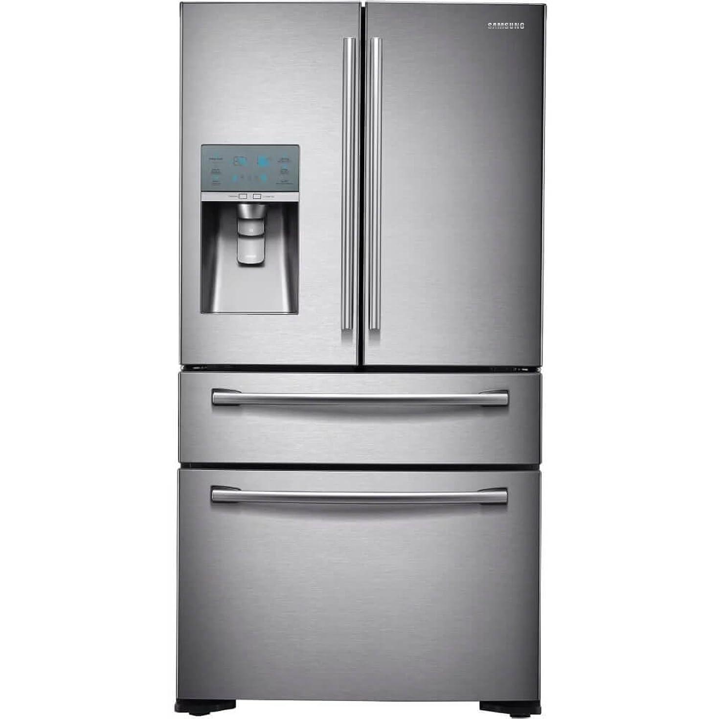 Samsung RF24FSEDBSR Stainless Steel Counter Depth 4-Door Refrigerator, 24 Cubic Feet