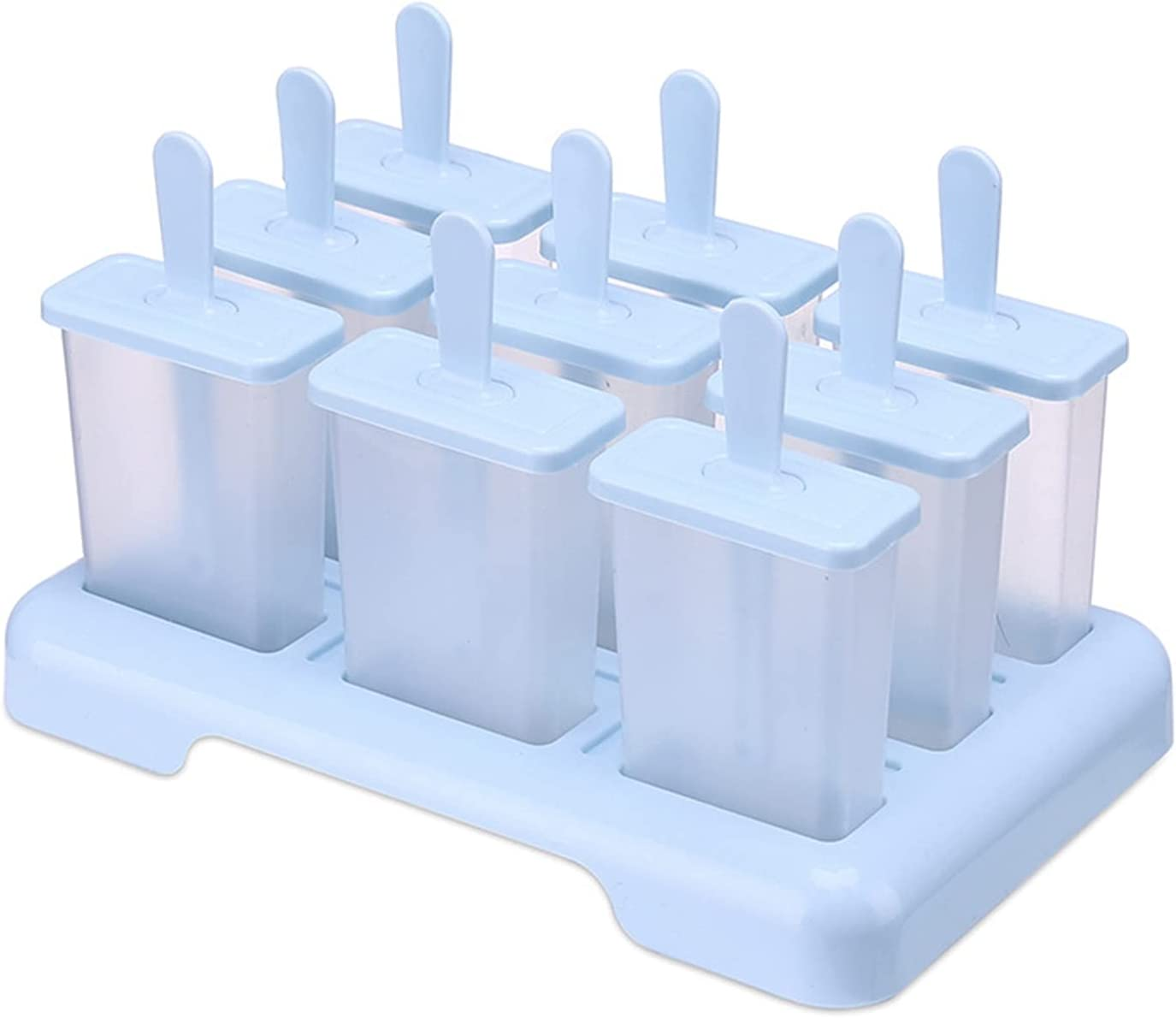 New products world's highest quality popular Popsicle Molds for Popular standard Kids 9 Cavity Reusable Silicone Mak