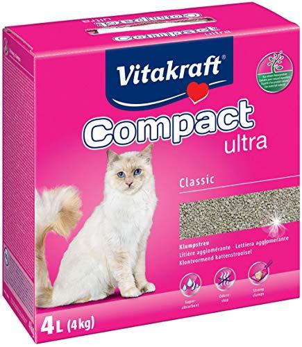 Vitakraft Litière Compact Ultra agglomérante pour chat 4kg