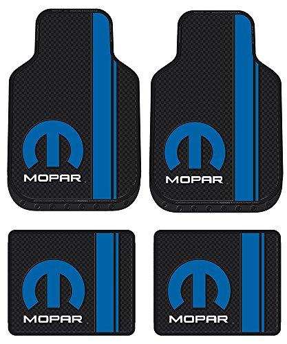 Plasticolor Mopar Logo Car Truck SUV Front & Rear Seat Rubber Floor Mats - 4PC
