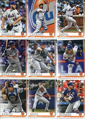 2019 Topps Series 2 Baseball New York Mets Team Set of 13 Cards: Noah Syndergaard(#359), Zack Wheeler(#371), Juan Lagares(#381), Dominic Smith(#388), Keon Broxton(#416), Jason Vargas(#418), Steven Matz(#443), Pete Alonso(#475), Citi Field(#497), Jeurys Familia(#589), Wilson Ramos(#591), J.D. Davis(#603), Amed Rosario(#624)