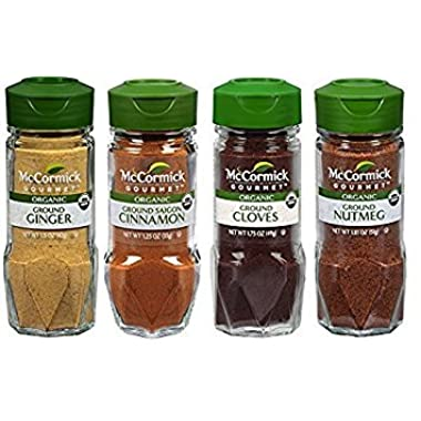 Assorted McCormick Organic Baking Spices Variety Pack, 4 Count