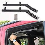 JeCar Rear Grab Handles Aluminum Grab Bars for 2007-2018 Jeep Wrangler JK 4-Door Sports Sahara Rubicon X, Black