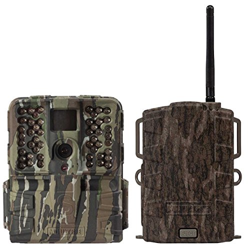 Moultrie S-50i 20MP 80' Video No Glow IR Game Trail Camera + Mobile Field Modem