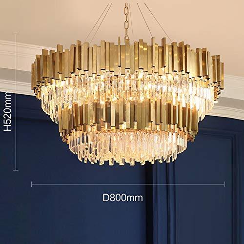 XIAOZHENT Lámpara Colgante Acrílico Art Deco Escalera de Caracol de Oro de Encargo Modernas lámparas de Techo for Colgar Accesorios de iluminación for techos Altos (Lampshade Color : Brown)