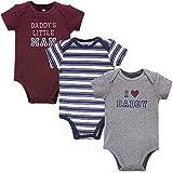 Hudson Baby Unisex Cotton Bodysuits, Boy Daddy, 3-6 Months