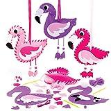 Baker Ross AT691 Kit Tessitura Fenicotteri, per progetti di artigianato artistico per bambini (confezione da 3), assortiti