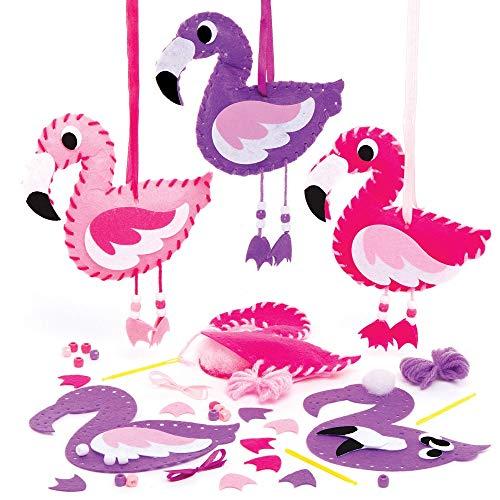 Baker Ross AT691 Flamingo Weefsets (3 stuks) Knutselspullen en Knutselsets voor Kinderen