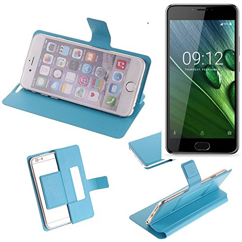 K-S-Trade Flipcover Für ACER Liquid Z6 Plus Schutz Hülle Schutzhülle Flip Cover Handy Hülle Smartphone Handyhülle Blau