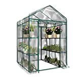 Ntribut Mini Serre De Jardin Plastique Chauffante, 3 Étages Serre De Jardin Tunnel Tente Bâche, pour Faire Pousser Et Protéger Plantes (sans Support en Fer) Conventional