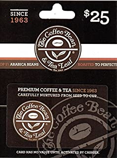coffee bean and tea leaf gift card