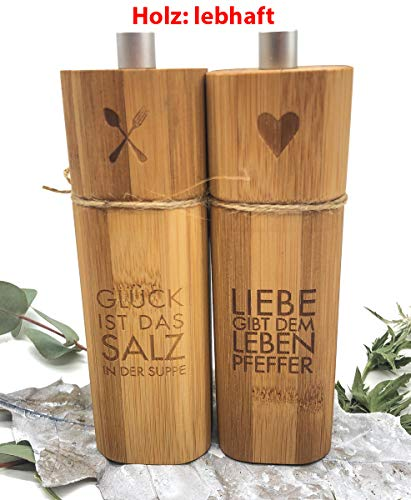 Räder Salz- und Pfeffermühle aus Bambus lebhaft, geölt